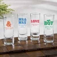 Personalized Marquee Design Fun 2 oz Shooter Glasses