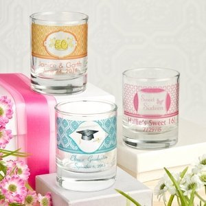 Personalized Shot Glass Party Favors or Votive Holders image