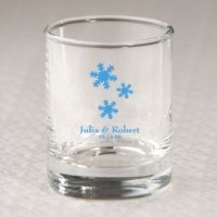 Custom Winter Votive Holder or Shot Glass Favor