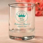 Personalized 15th Birthday Party Favor Candle Holders