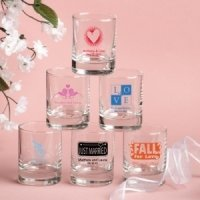 Custom Wedding Shot Glasses or Votive Holders (50 Designs)