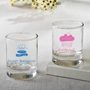 Personalized Birthday Design Shot Glass Or Votive Favors image
