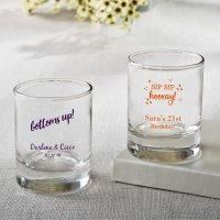 Personalized Celebration Shot Glass Votive Favors