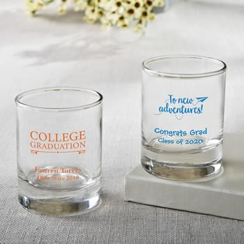 Personalized Graduation Design Shot Glass or Votive Holder image