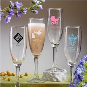 Custom Baby Shower Champagne Flutes image