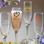 Personalized Champagne Glass Wedding Favors (50 Designs)