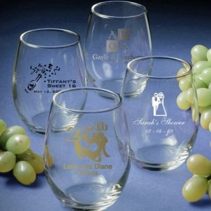 Custom Stemless Wine Glass Favors image