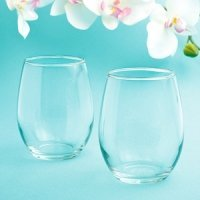 Perfectly Plain Stemless Wine Glass Favor