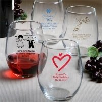 Custom Stemless Wine Glass (50 Designs)
