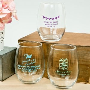 Expressions Collection 15oz Stemless Wine Glass Favors image