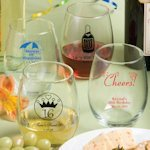 Personally Yours Large Stemless Wine Glasses