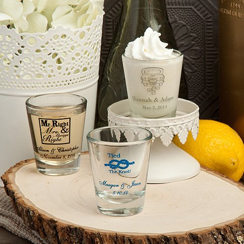 Wedding Party Gifts Canada: Shot Glasses Wedding Favors (Many Designs