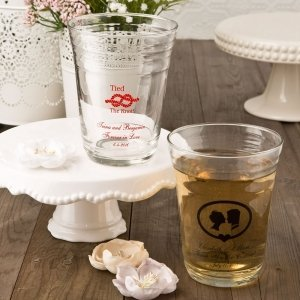Personalized Glass Party Cup Wedding Favors image