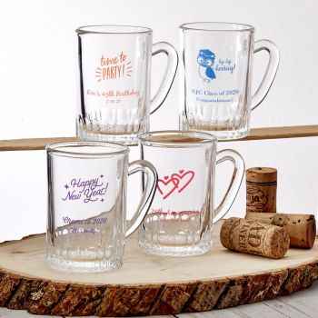 Design your own collection personalized screen glass mug image