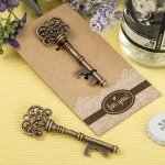 Copper Skeleton Key Bottle Opener Favors
