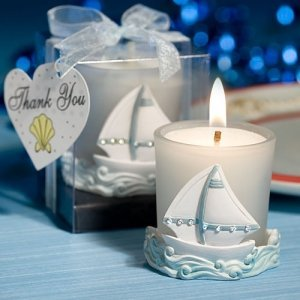 Sailboat Votive Candle Holder image
