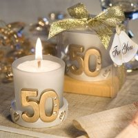 Gold Candle 50th Anniversary Favors