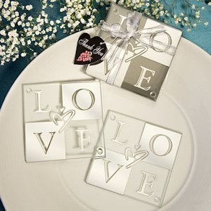LOVE Shines Through Coaster Favors (Set of 2) image