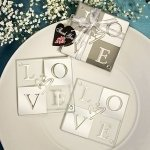 LOVE Shines Through Coaster Favors (Set of 2)