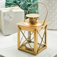 Love Lights The Way Luminous Matte Gold Lantern