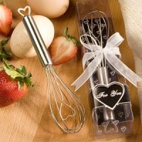 Heart Design Wire Whisk Favors for Weddings