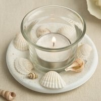 Natural Sea Shell Candle Votive Wedding Favor