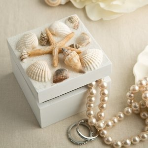 Natural Sea Shell Trinket Box Wedding Favor image