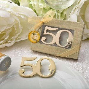 50th Design Golden Bottle Opener Party Favors image