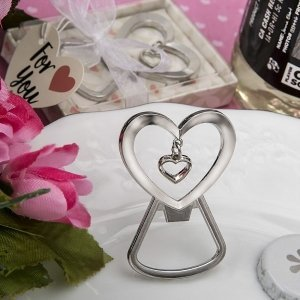 Dangling Heart Bottle Opener Favors image