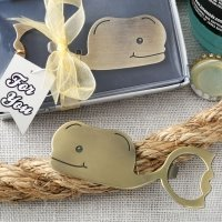 Fun Whale Themed Brass Finished Metal Bottle Openers