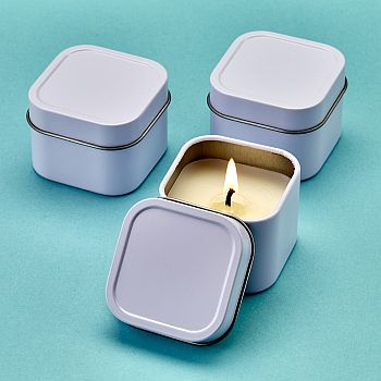 White scented travel Candle Tin image