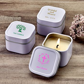 Design your own direct screen printed candle tin image
