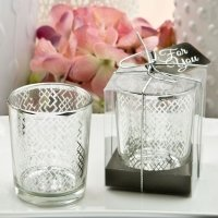 Magnificent Geometric Silver Mercury Candle Holder