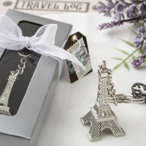 Eiffel Tower Metal Key Chain Favors image