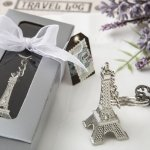 Eiffel Tower Metal Key Chain Favors