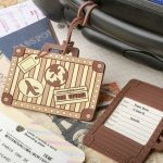 Vintage Suitcase Design Luggage Tag Favors