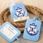 Anchor Design Nautical Themed Luggage Tag Favors