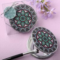 Mandala Design Leatherette Compact Mirror Favors