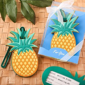 Pineapple Themed Luggage Tag Favors image