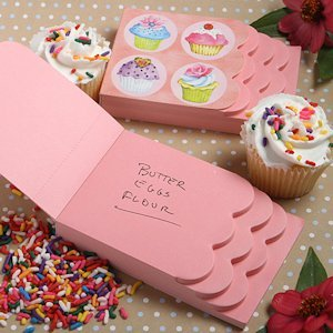 Cupcake Design Notepad Favors image