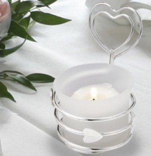 Heart Design Candle Place Card Holder image