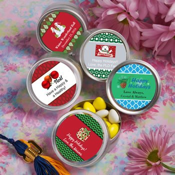 DIY Holiday Design Silver Mint Tin Favors image