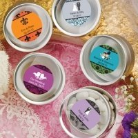 Personalized Round Silver Mint Tins