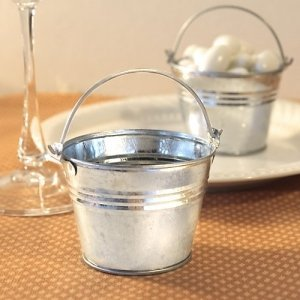 Galvanized Mini Buckets for Wedding Favors image
