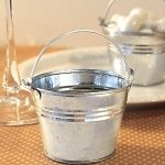 Galvanized Mini Buckets for Wedding Favors thumbnail