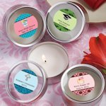 Personalized Themed Round Travel Candles