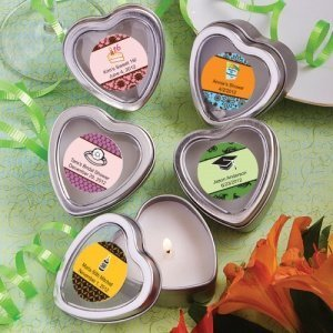 Personalized Themed Heart Shaped Travel Candles image