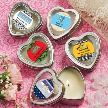 DIY Holiday Party Scented Heart Shaped Travel Candles image