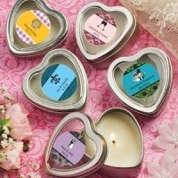 Personalized Heart Shaped Travel Candles