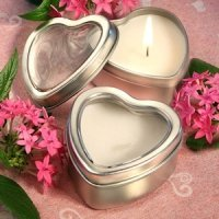 Heart Candle Favors